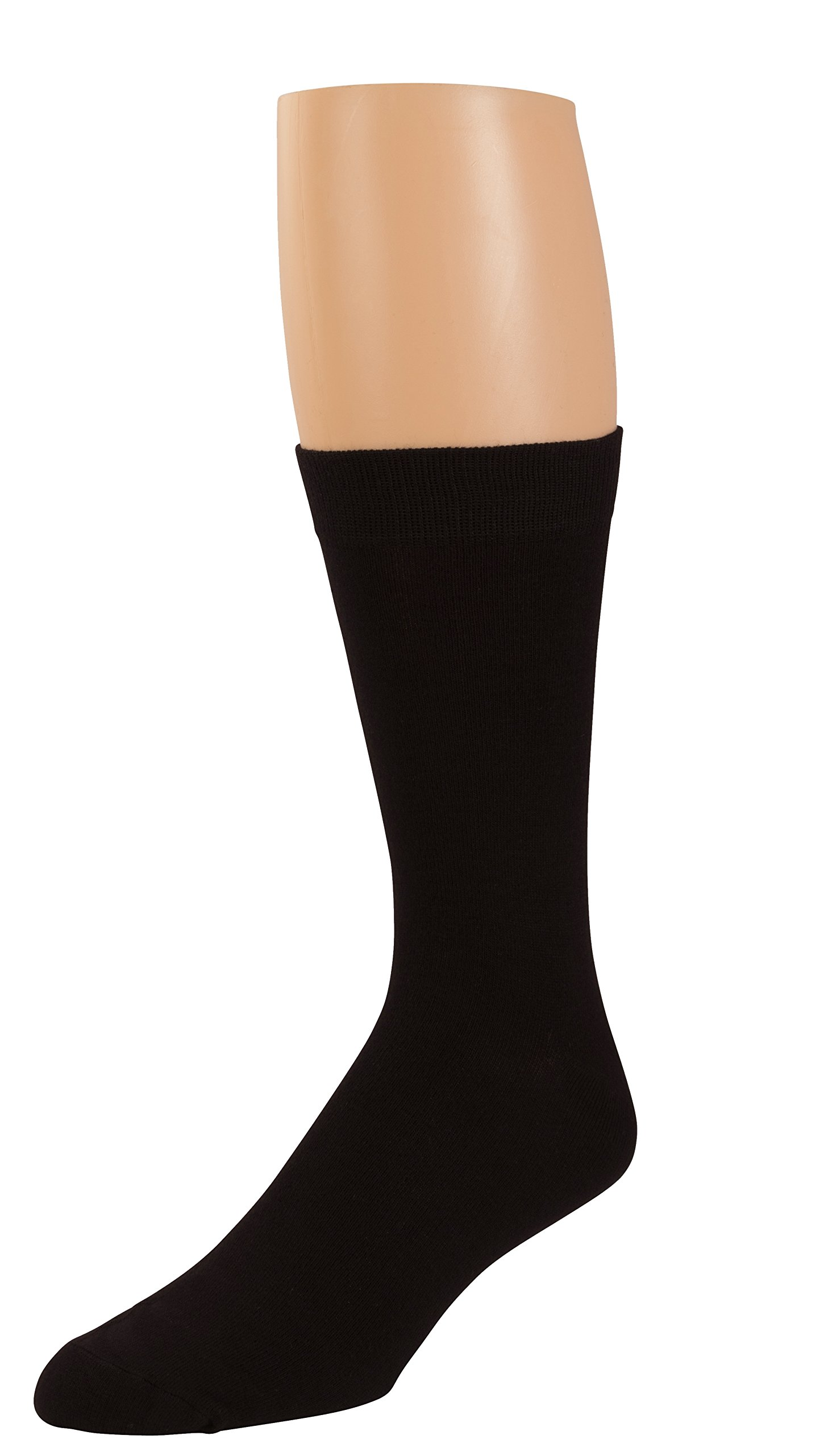Non Sweat Men's Black Crew Socks - Ultra Soft Viscose Bamboo - 6 Pack - by Zeke by ZEKE (Image #2)