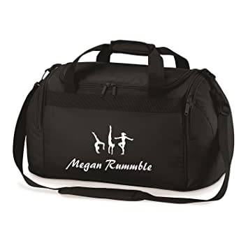 14a31761466d Its Personalised Gymnastics Personalised Printed Costume Bag Holdall  Leotard Shoes Towel Gym (Black White