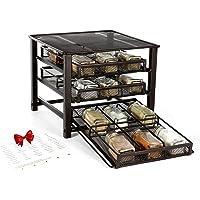 6D 18 Bottles 3-Tier Desk Standing Spice Rack Organizer (Black)