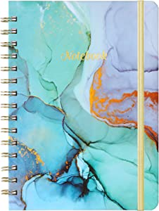 Spiral Journal/Notebook - Lined Journal with Back Pocket and Hardcover, 8.4