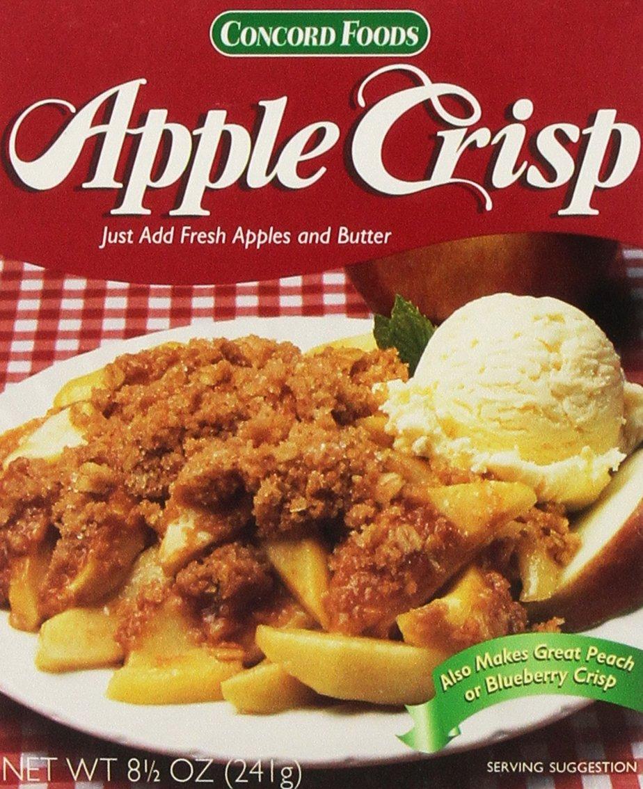 Concord Foods Apple Crisp Mix 8.5 oz Box (Pack of 4)