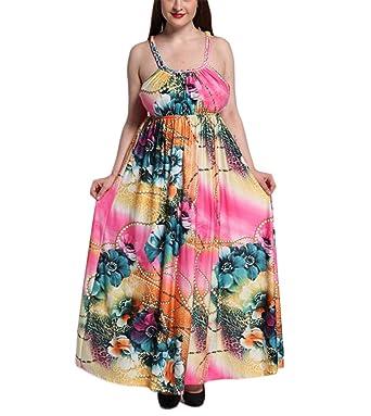 SusanSi NEW férias de praia plus size vestido Bohemian verão das mulheres grande balanço strap sexy