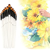 12 PCS Paint Brushes Set Nail Art Brushes Professional Sable Hair Extra Fine Detail Paint Brush Set for Art Painting…