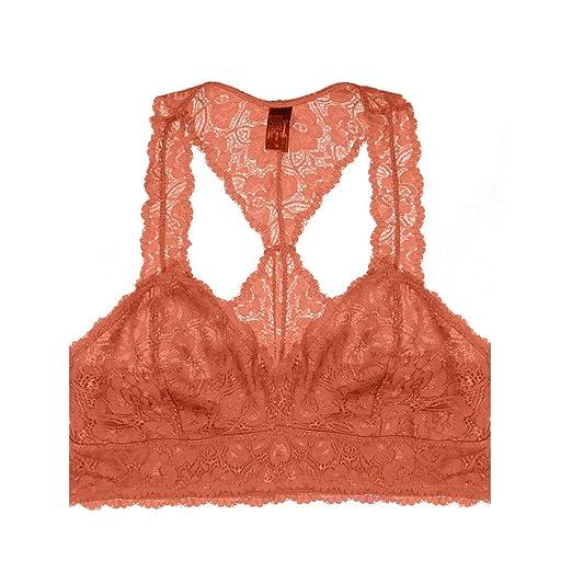Amazon.com  Floral Lace Racerback Bustier Bralette (Large