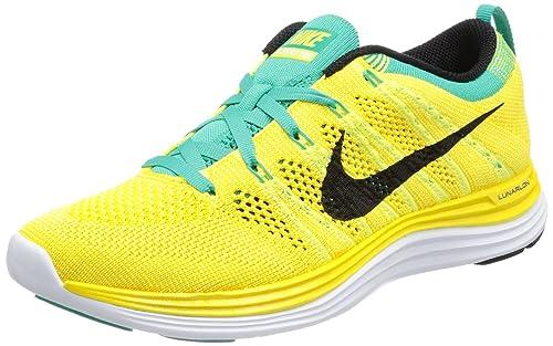 Nike Flyknit Lunar One Herren Gelb Orange Running Schuhe