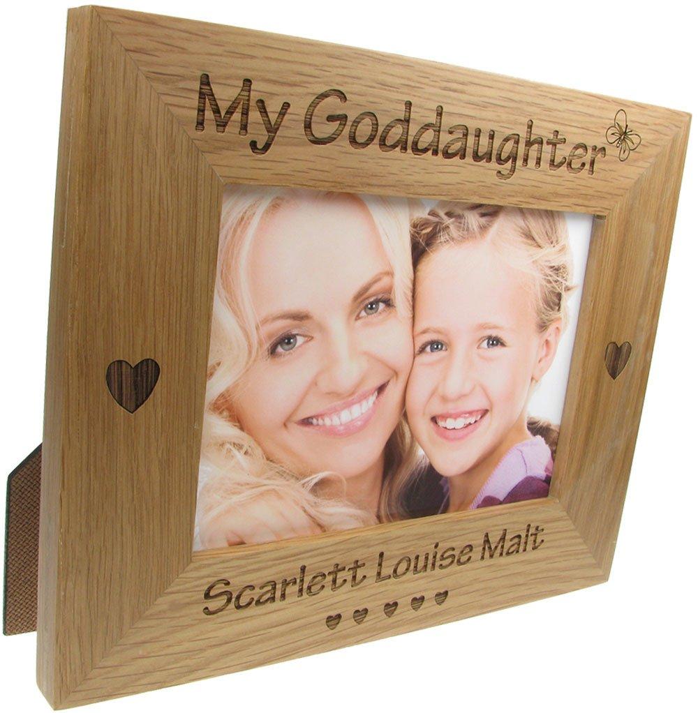 Godparent Gift, \'My Goddaughter\' Personalised Oak Photo Frame ...