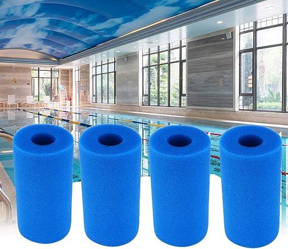 Houkiper Pool Filter Cartridge for Intex S1 Type 4 Pack Filter Sponge Reusable Washable Filter Cleaner Tool Foam Cartridge Sponge