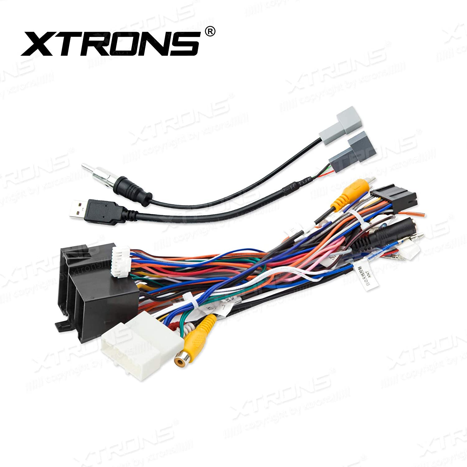 amazon com: xtrons car stereo radio iso wiring harness connector fits for  hyundai ix35 units: automotive
