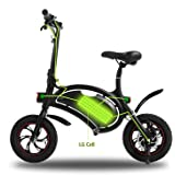 Wireless Smart E-Bike 350W 36V Folding Electric Bicycle with 15 Mile Range Cruise Control / APP Speed Setting