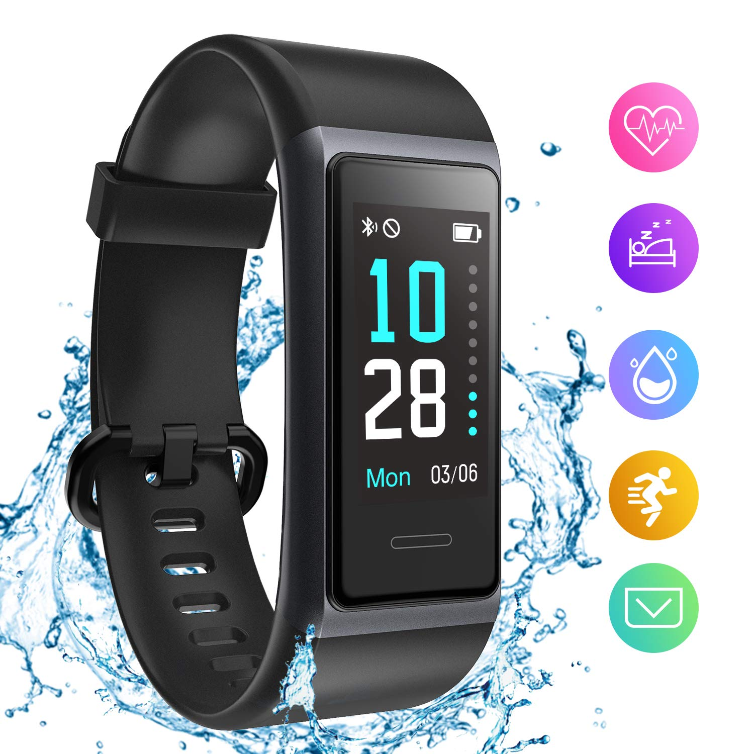 Holyhigh 153 Smart Band Fitness Watch, Fitness Tracker With