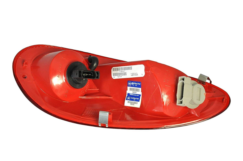Passenger Side Taillight Tail Light Lamp for 2001-2005 Chrysler PT Cruiser CH2801145 5288742AG Includes Bulb Dependable Direct