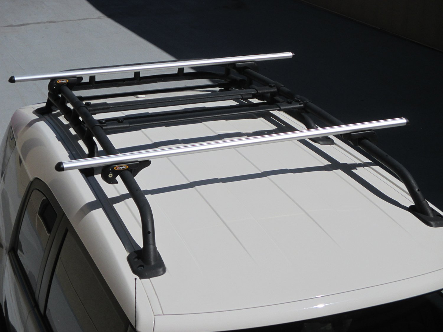ABN 60 Inch Long Adjustable Cross Bars Roof Rack with 2 Key Locks for Vehicle Raised Side Rail Adjusts Up to 55/""