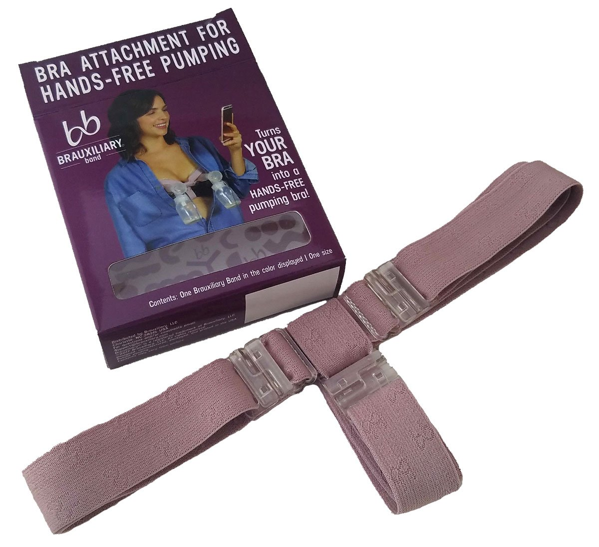 39e2f208346db Amazon.com: Brauxiliary Hands Free Pumping Band - Works With Your Bra!  (Sand): Baby