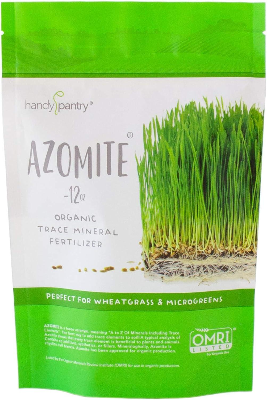 12 Oz. of Azomite - Organic Trace Mineral Soil Additive Fertilizer - 67 Trace Minerals: Garden/Gardening Soil Amendment
