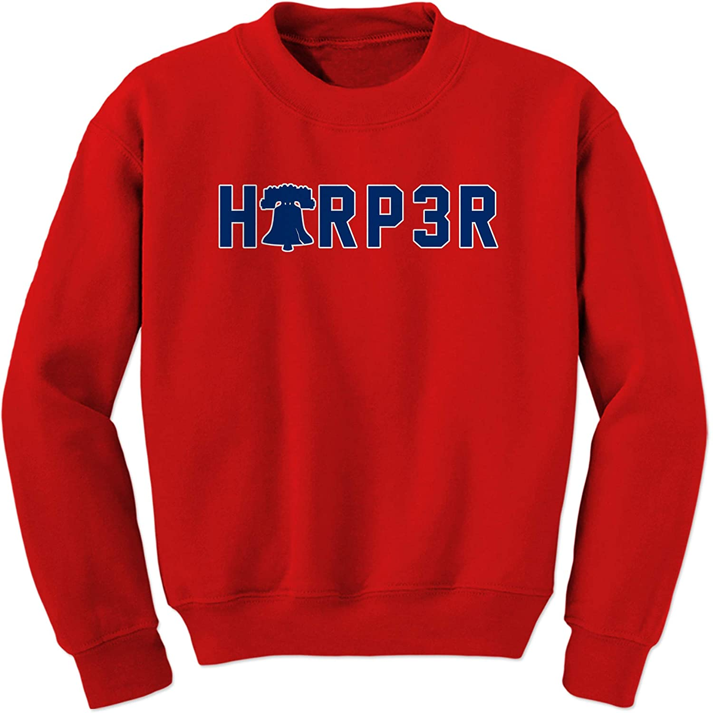 FerociTees Harper 3 Philly Baseball Bell Crewneck Sweatshirt
