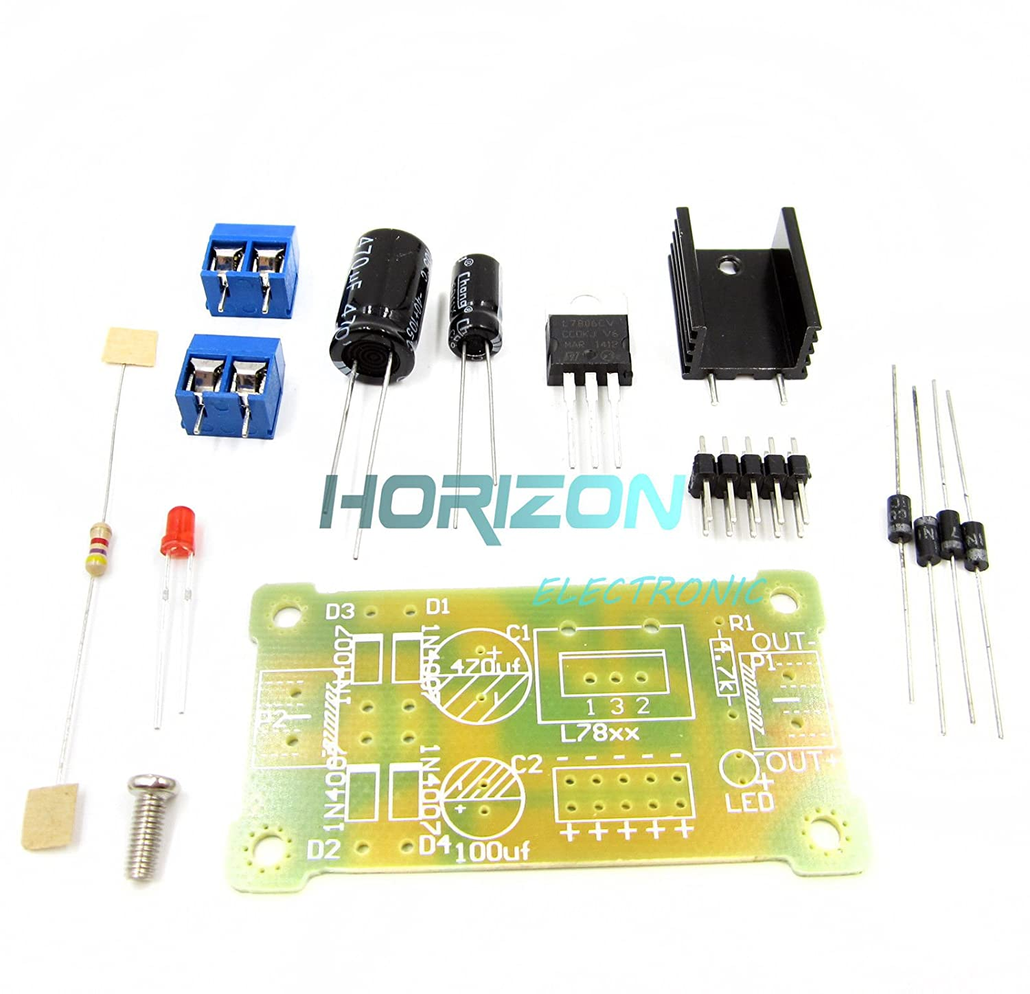 LM7815 Step Down 19V-35V to 15V Power Supply Module DIY Kit