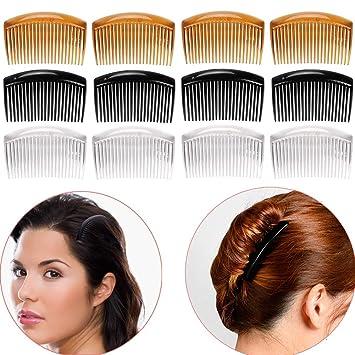 10pcs 7teeth plain plastic hair combs  for hair style Handmade Hair accessories