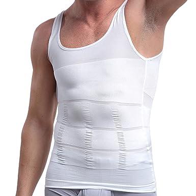 26677e62bc2a1 Vdual Men Body Shaper Compression Vest Slimming Shirt Elastic Slim Shapewear