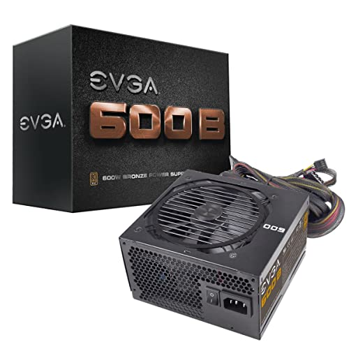 EVGA 600 B1, 80+ BRONZE 600W, 3 Year Warranty, Includes FREE Power On Self Tester, Power Supply 100-B1-0600-KR
