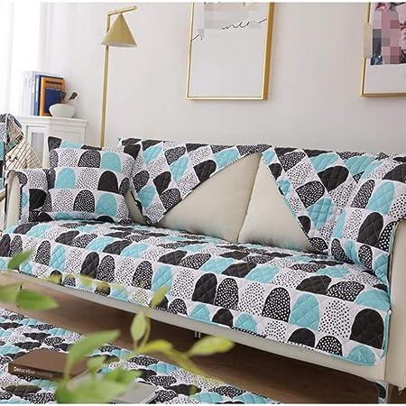 WBFN Funda, algodón Inicio cojín del sofá Deslizamiento de Tela sofá Toalla Cubierta de Tela Cruzada de la Estera del Amortiguador del algodón, Muebles Protector de la Piel de Usar: Amazon.es: Hogar