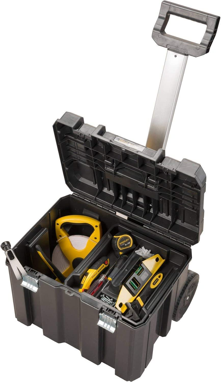 Stanley 195828 Caja de herramientas Stanley con cierre galvanizado (con ruedas, 66 cm): Amazon.es: Bricolaje y herramientas
