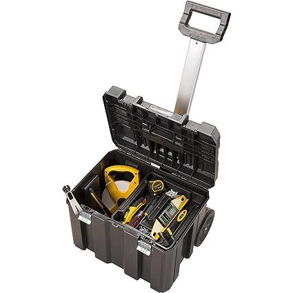 Stanley 195828 Caja de herramientas Stanley con cierre galvanizado (con ruedas, 66 cm)
