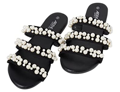 fcf62e4c0f2c Ardene Women s - Slides - Pearl Slides 6 -(8A-FW00760)  Amazon.co.uk  Shoes    Bags