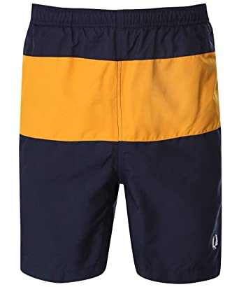 222959d778021 Amazon.com: Fred Perry Men's Panelled Swim Shorts S3501 608 Navy ...
