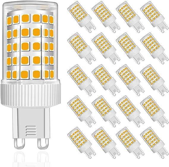 Image of MENTA Bombillas LED G9 10W, Equivalente a 80W Halógena, Blanco Cálido 3000K, 800lúmenes, 86-SMD 2835 Lámpara Bombilla, 220-240 VAC, No Regulable, Ángulo de Luz de 360°, Garantía de 2 año, Pack de 20           [Clase de eficiencia energética A++]