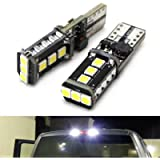 iJDMTOY (2) Xenon White High Power 9-SMD 906 912 920 921 T15 LED Replacement Bulbs Compatible With Truck 3rd/Third Brake…