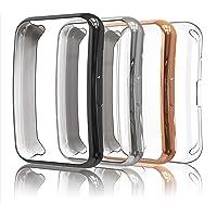 Simpeak 4 Piezas Funda Compatible con Huawei Watch Fit, Slim Suave TPU Protector de Pantalla Ligero Anti-Arañazos, Negro…