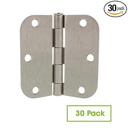 7penn Satin Nickel Door Hinges Interior Door Hinge 30 Pack 35 Inch