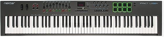 Nektar Impact LX88+ USB MIDI Keyboard Controller with DAW Integration: Amazon.co.uk: Musical Instruments