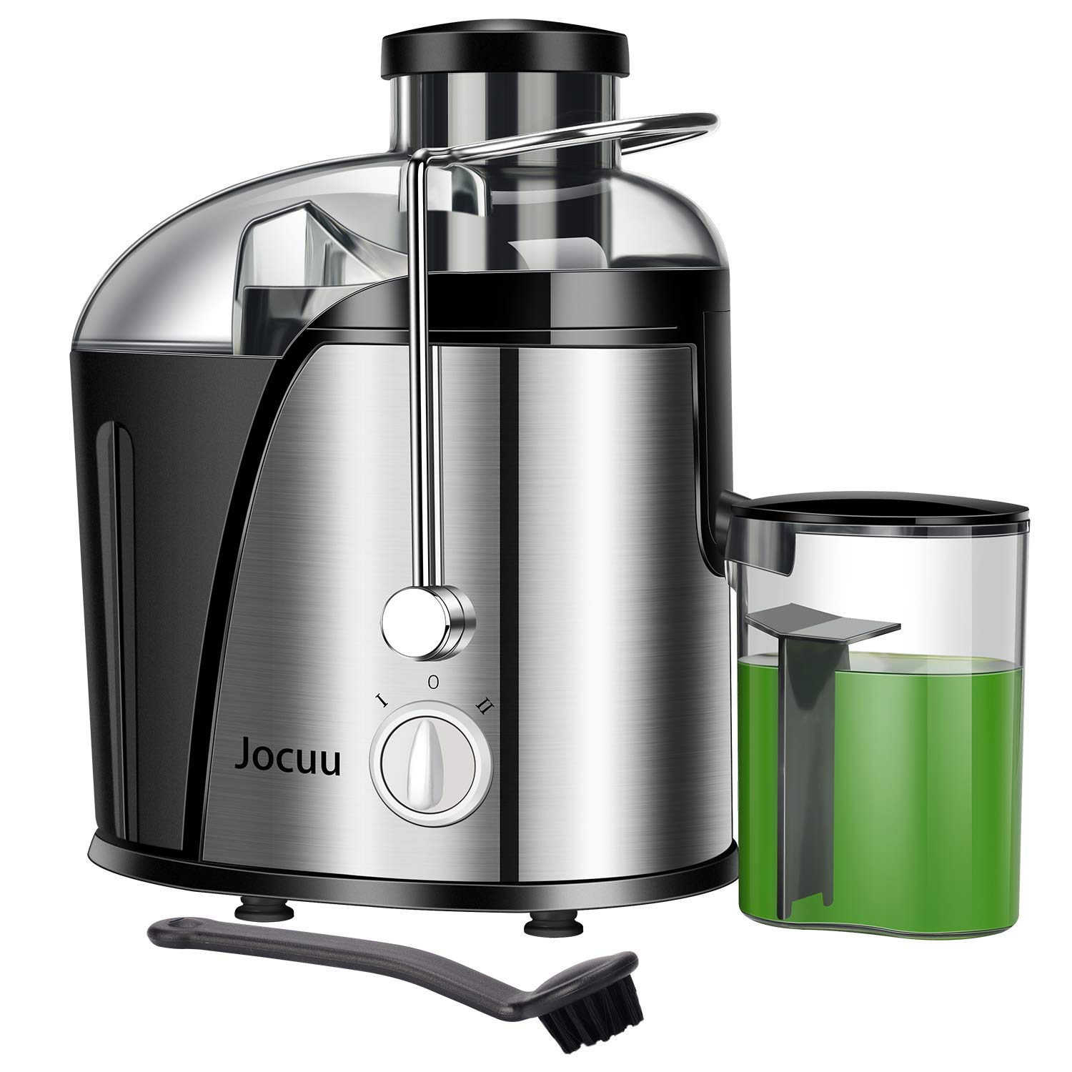 Jocuu Juicer Machine, Centrifugal Juicer Juice Extractor Wide Feed Chute Easy to clean, 2 Speed 600W Power, Food Grade 304 Stainless Steel BPA-Free Dishwasher Safe by Jocuu