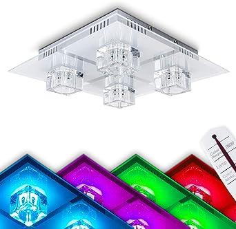 Deckenleuchte 1 flammig Deckenlampe mit Deko Flurlampe Leuchte Lampe aus Glas