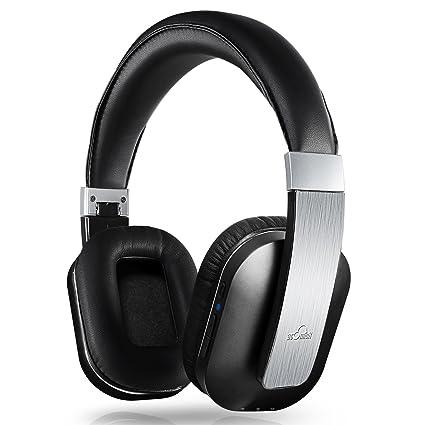 iDeaUSA - Auriculares inalámbricos Bluetooth 4.0 APT-X - Auriculares estéreo con acolchado, plegables