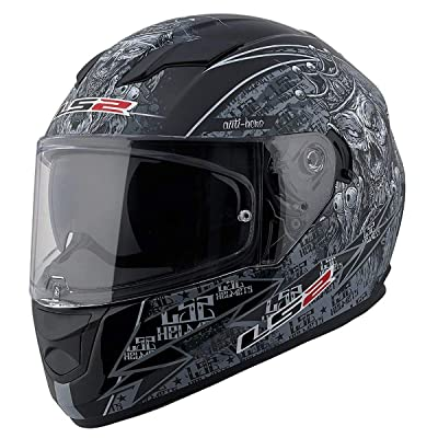 LS2 Helmets Full Face Stream Street Helmet (Anti-Hero Matte - X-Small): Automotive