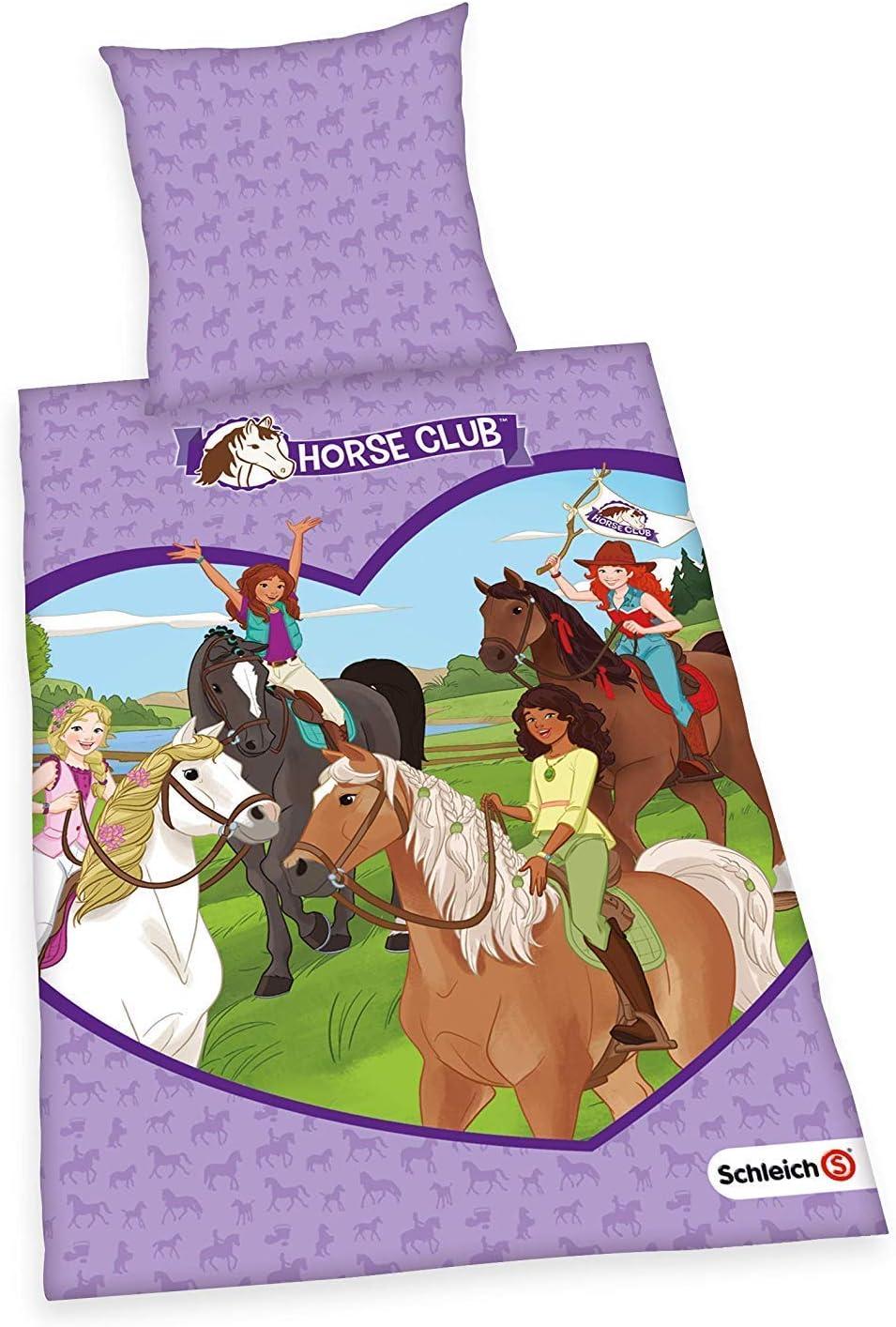 Ropa de Cama Liso Schleich Caballo Club Princesa Hannah 135 X 200 Regalo Nuevo Wow - All-In-One-Outlet-24
