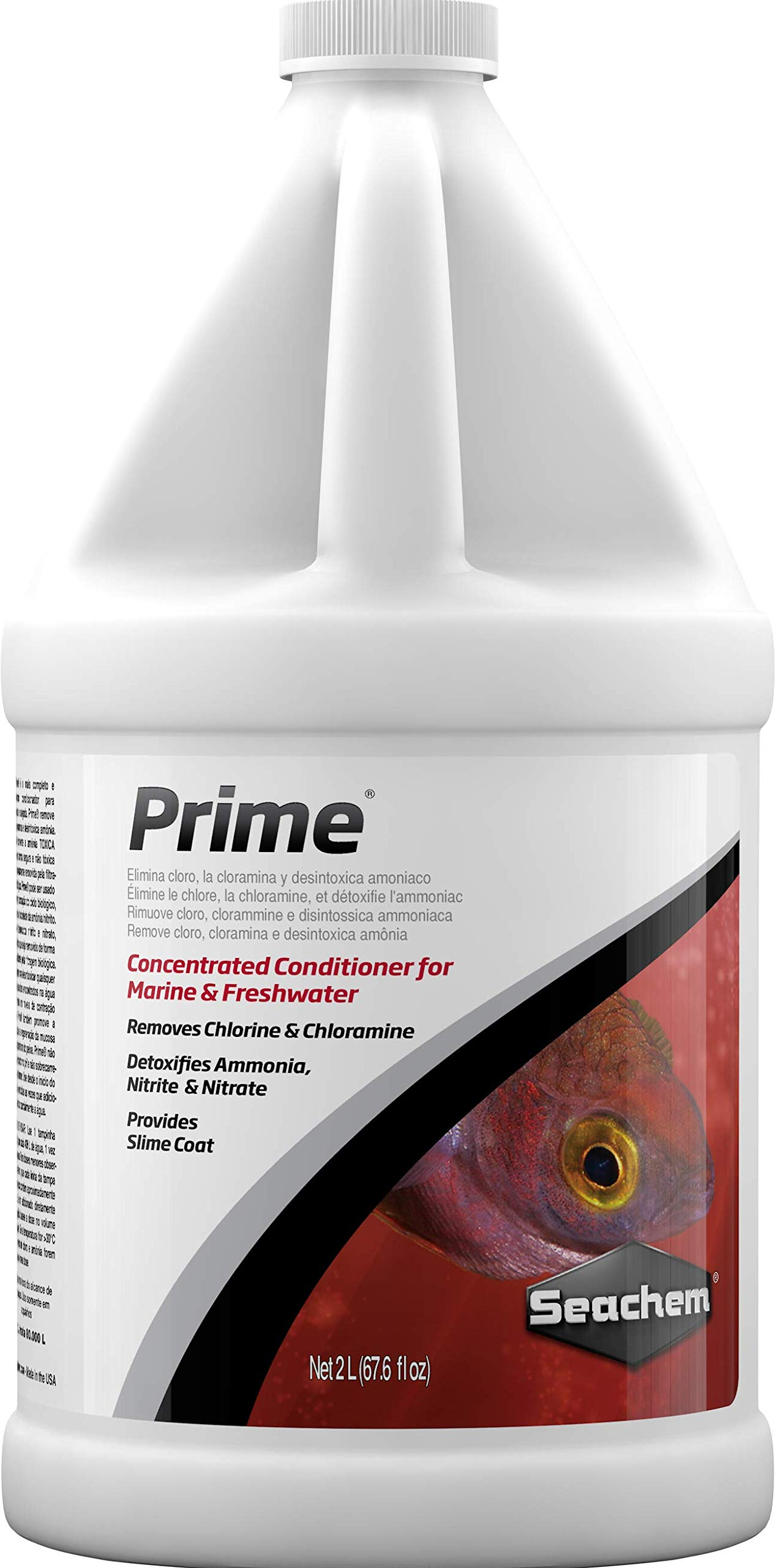 Seachem Prime Fresh and Saltwater Conditioner - Chemical Remover and Detoxifier 2 L by Seachem