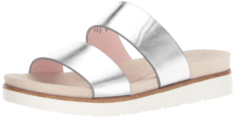 kensie Women's Dominic Slide Sandal B0782191D5 6.5 M US|Silver