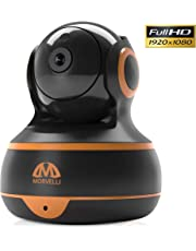 [New 2019] FullHD 1080p WiFi Home Security Camera Pan/Tilt/Zoom - Best Rated Smart App, Work with Alexa - Wireless IP Indoor Surveillance System - Night Vision, Motion Track, Remote Baby Monitor iOS