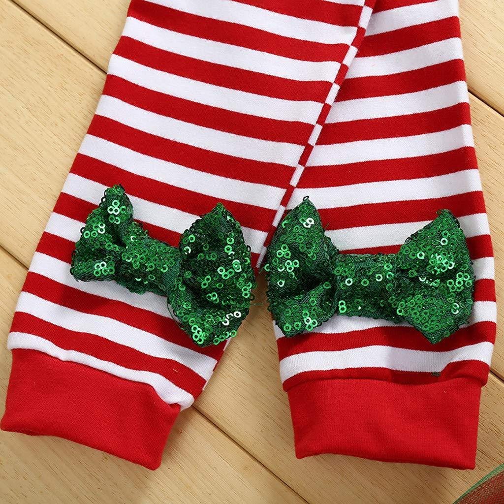 Babykleidung M/ädchen Winter Kleidung Strampler Tops Tutu Kleid Haarband Set New Year Weihnachten Geburtstag Vierteiliges Set Pwtchenty