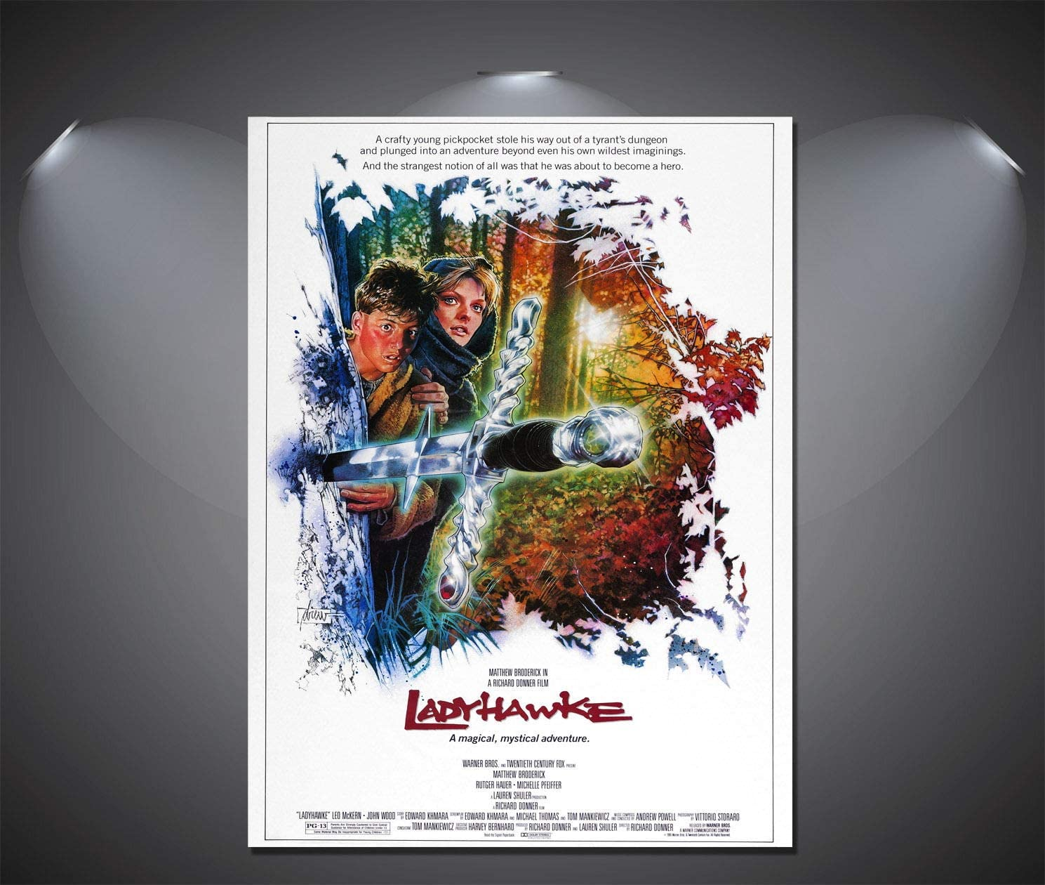 SAVA 147246 Ladyhawke Vintage Movie Decor Wall 36x24 Poster Print