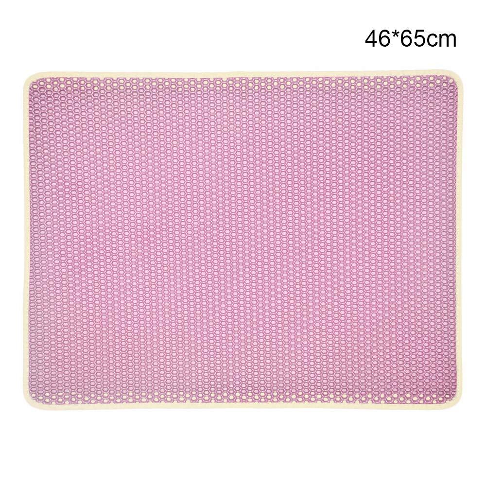 40 * 50cm, Black BVAGSS Tappetino Lettiera Gatto Impermeabile Tappeto di Atterraggio Cat Litter Mat per Proteggere Pavimenti XH020