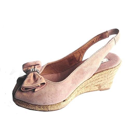 Toni Pons - Alpargatas de Ante para mujer, color beige, talla 40: Amazon.es: Zapatos y complementos