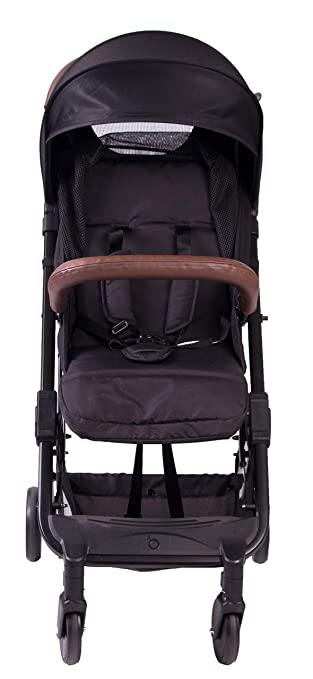 Suitable from Birth Redkite Lightweight Push Me Sprint Easy Fold Multi Position Lie Back Stroller Pushchair with Extendible Suitcase Handle /& Raincover Black