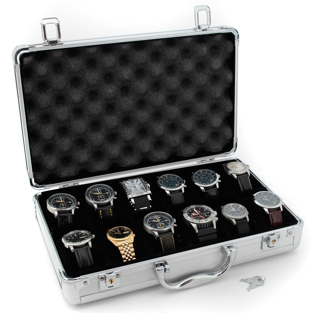 Tech Swiss TSBOXAL12 Watch Storage Aluminium Case Watch Case