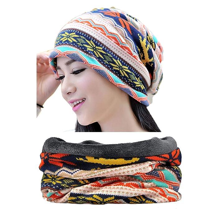 Snyemio Cappello Sciarpa Donna 54518703741d