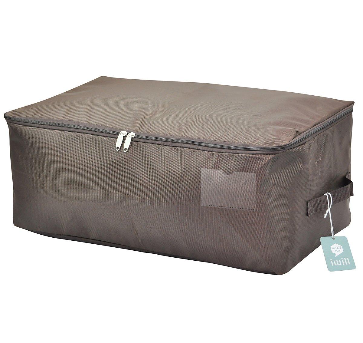 Seasonal Clothes Storage Bag, Comforter/Bedding/Quilt/Pillow Storage Organizer Bag, Black I WILL LSD-Black