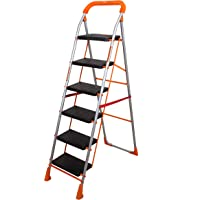 Magna Homewares Advance Safety Technology Orange Series Pollux Heavy Duty Metal 6 Step Folding Ladder